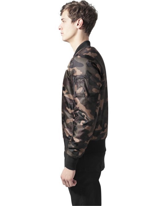 Camo Basic Bomber Jacket wood camo